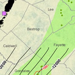 Bastrop County Eagle Ford Shale Map