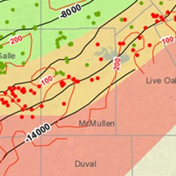 McMullen County Eagle Ford Shale Map