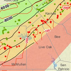 Live Oak County Eagle Ford Shale Map