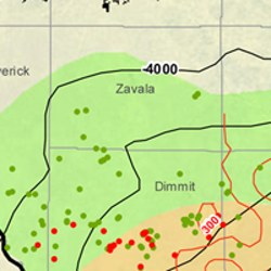 Zavala County Eagle Ford Shale Map