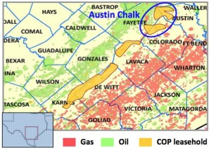 ConocoPhillips Eagle Ford Shale Acreage Map