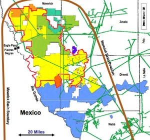 TXCO Resources Eagle Ford Shale Acreage Map