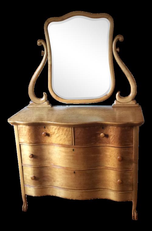 Antique Birdseye Maple Dresser with Mirror - Antique Birdseye Maple Dresser With Mirror — Happy At Home Furnishings