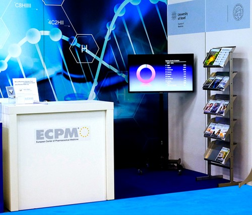 ECPM booth at DIA Europe 2018 in Basel.  Thanks to Roger Wiezel from  atelier w, printdesign & screendesign.