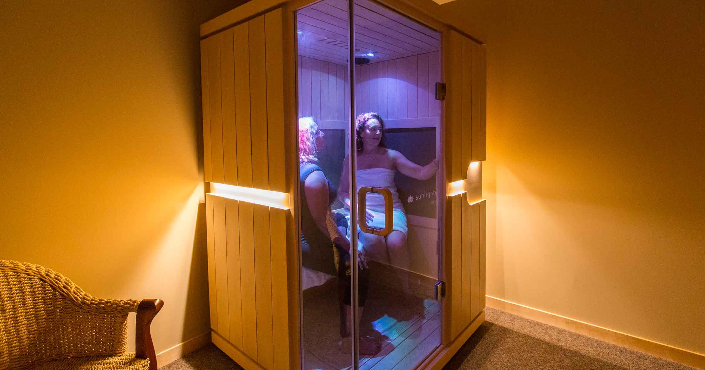 Unprotected at the sauna