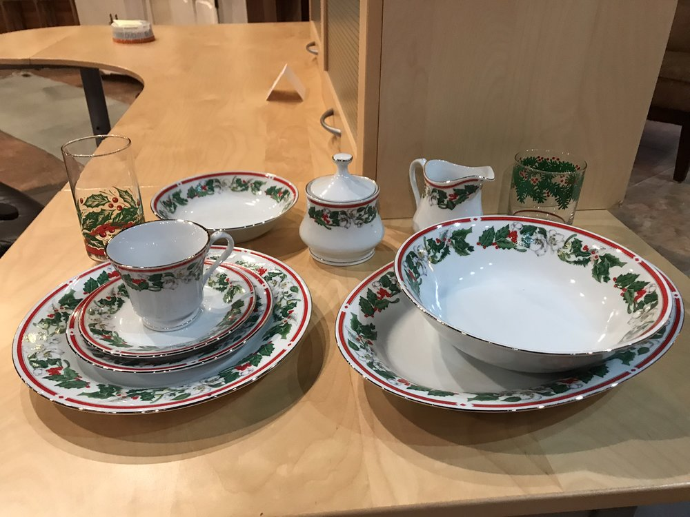 45-Piece Holiday China Set $50