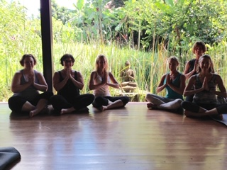 Bali retreat - yoga practice
