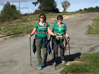 MB and mom walking the Camino!
