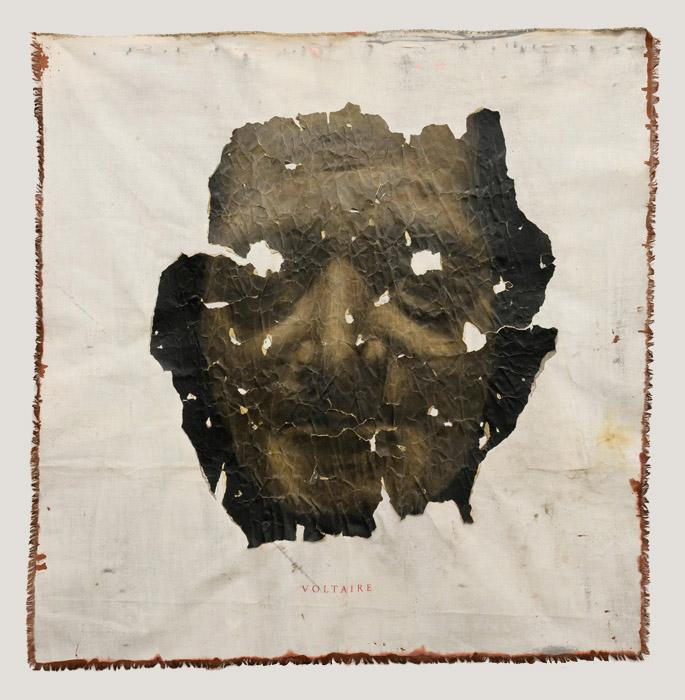 Culte des grands hommes (Voltaire) Triptych, 2012 120 x 120 cm