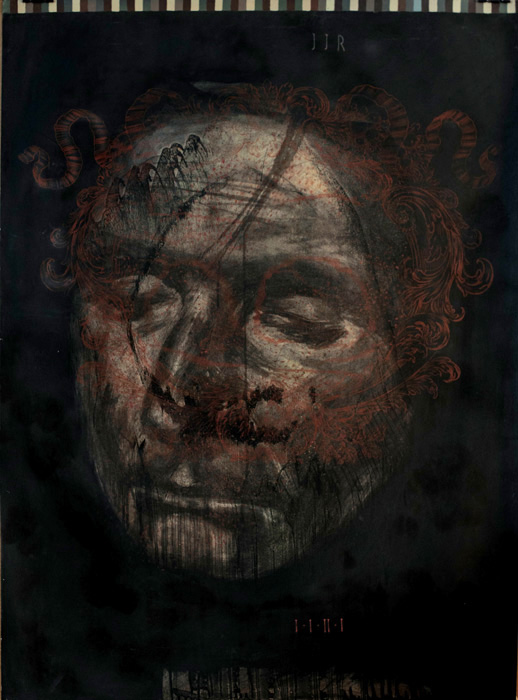 Jean-Jacques Rousseau d'après Nature  2011, Charcoal, pencil and acrylic on Heritage paper 113.7 x 83.6 cm