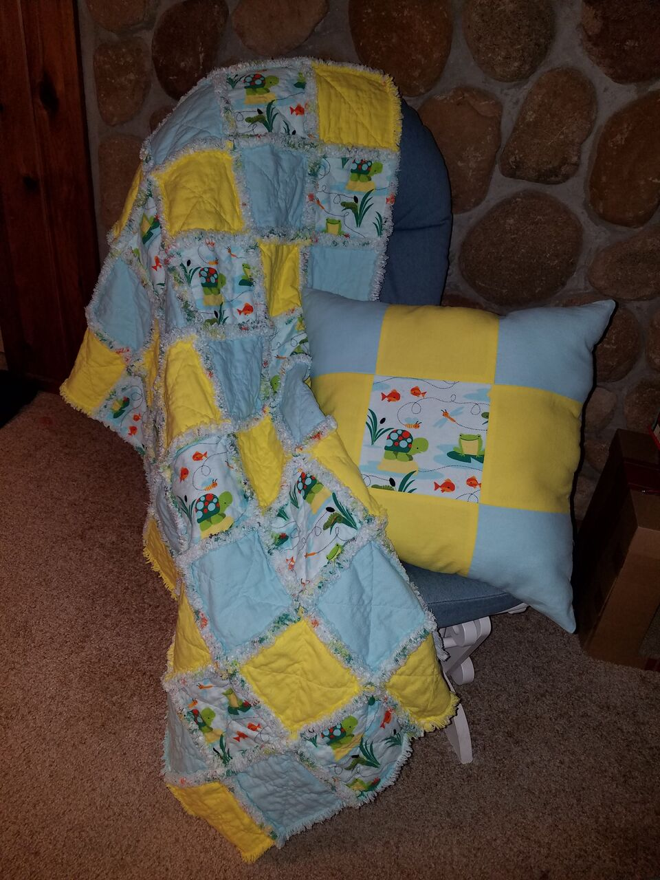Yellow and Blue Quilt and Pillow.jpeg