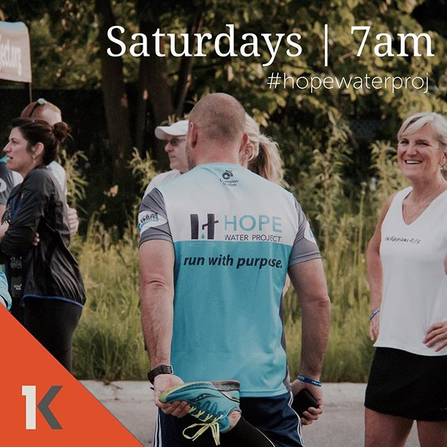 There's still time to jump in to our group runs!  Join us tomorrow morning at 7am!  You can find us at 13900 S. West Bayshore Dr. Traverse City MI (look for the blue Hope Water flags). #KensingtonTC #Hopewaterproj