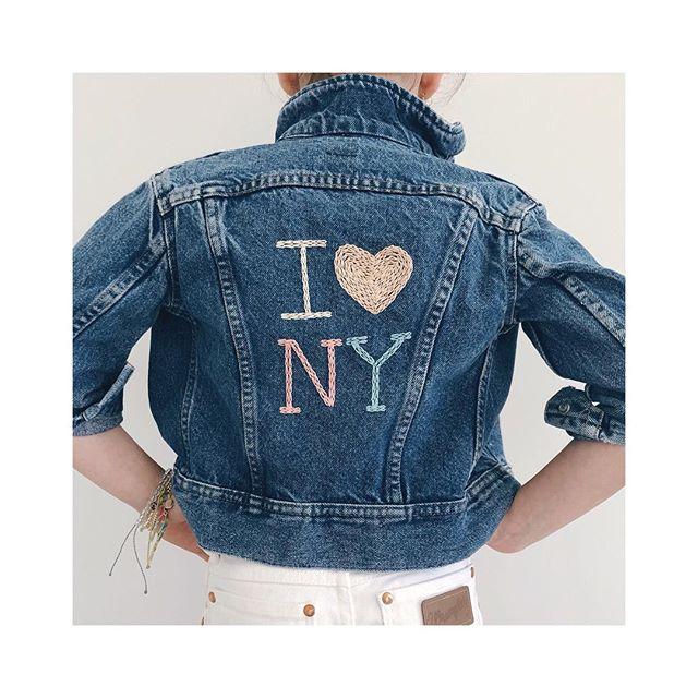 ι 💙 ny . . . . . . . . #sidnyc #kids #vintagedenim #handmade #custom #ilovenyc #kidsdenim #nyc #oneofakind #ministyle #minifashion #kidsfashion #kidsstyle #embroidery #tween #ootd #coolkids