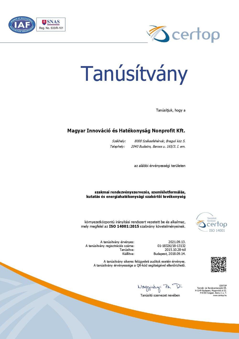 tanúsítvány HU18326-18 ISO 14001-2015 magyar-page-001.jpg