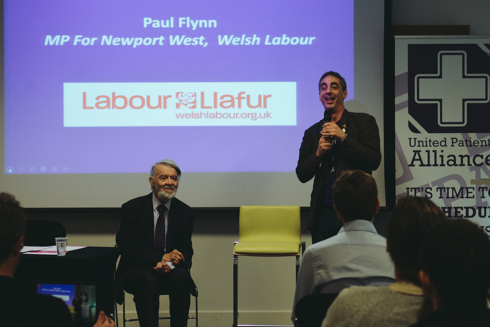 Paul Flynn MP and Jonathan Liebling at UPA AGM in Bham 2017