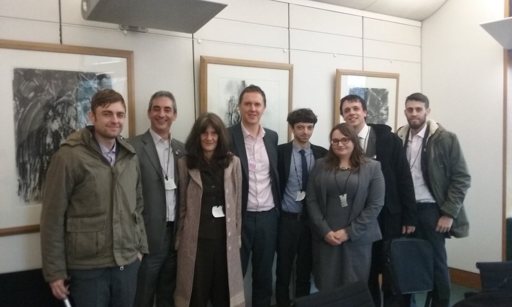 Clark, Jon, Panny, Tim, Jake, Faye, Keiron and Alex at the Office of Nick Clegg -2015