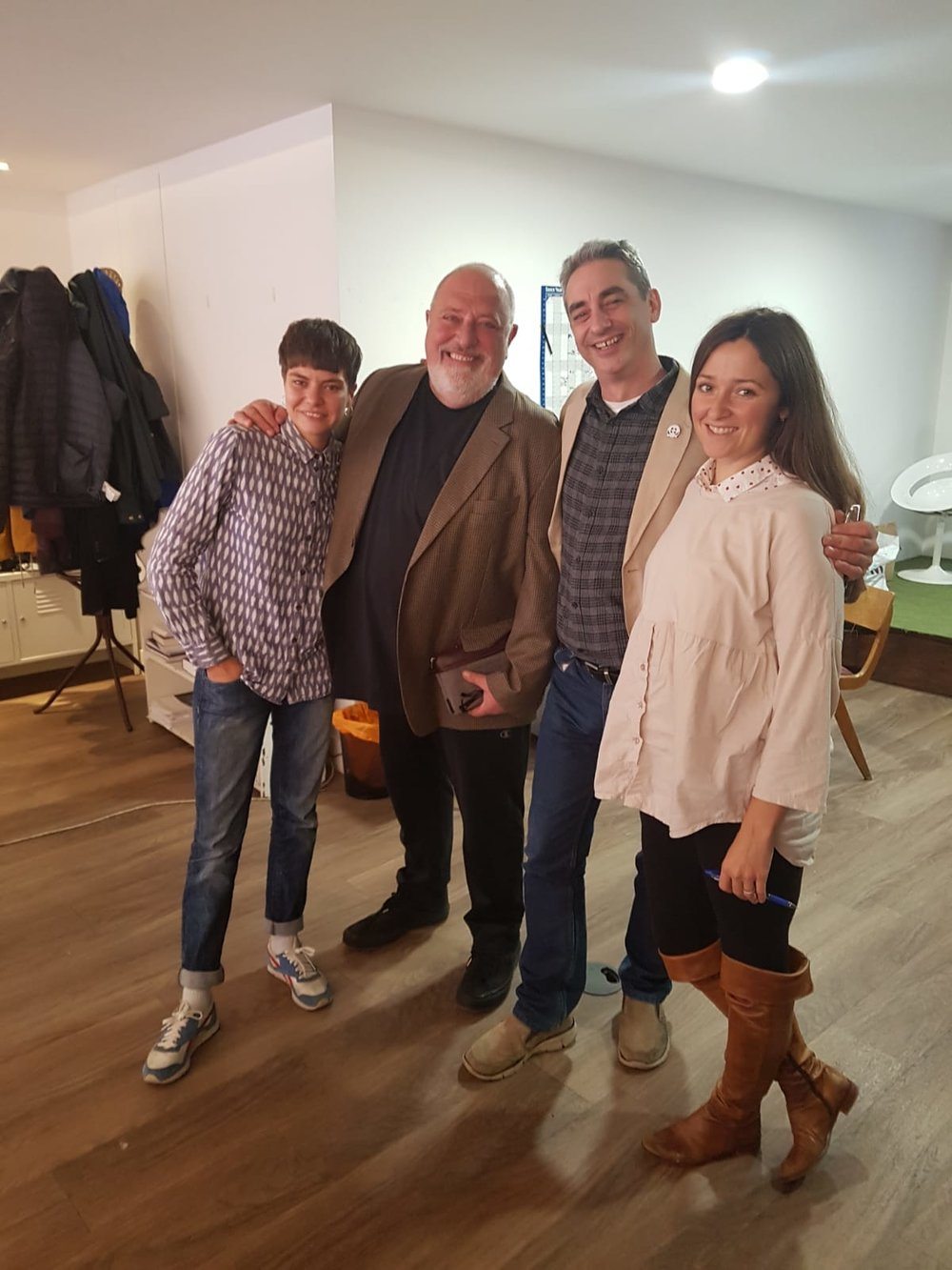 Doctor Frank at Crowdshed with Jon Liebling and Carly Jayne Bartion (UPA) and Basia (F4A)