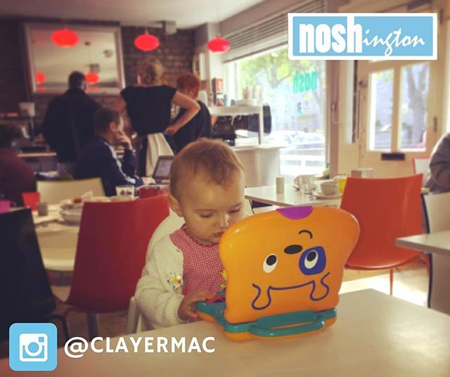 Safe to say this is the cutest customer we've had recently!  Thanks to Claire for sharing - tag us in pics next time you visit! #Noshington