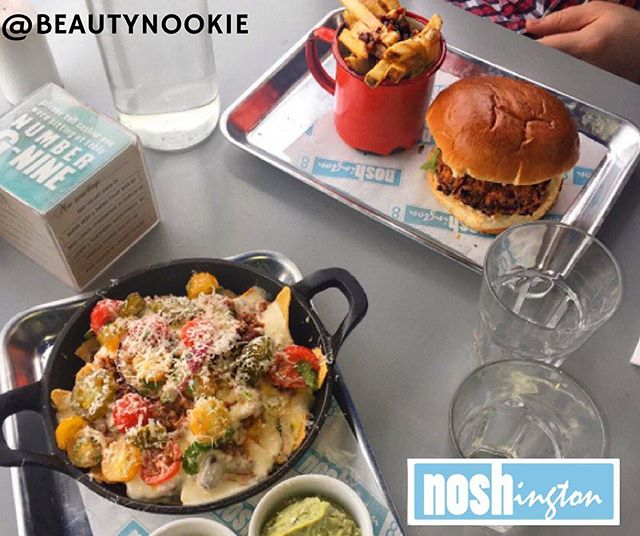 Chilli Beef Nachos from our new menu and a tasty burger special... Thanks for sharing @Beautynookie! #Noshington