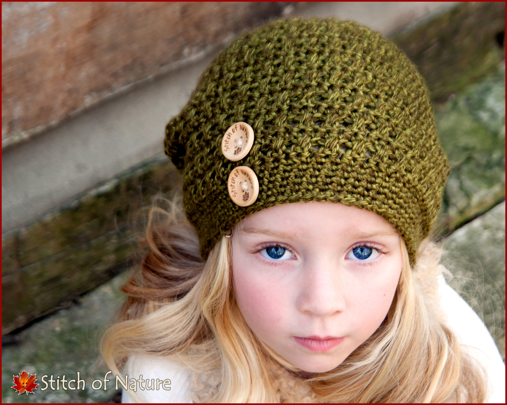 Blue Hill Slouchy Hat w/Buttons (16003)
