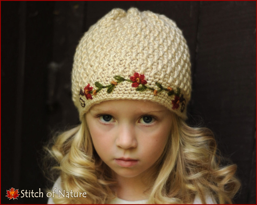 Florence Pearl Beanie w/Embroidery (16012)