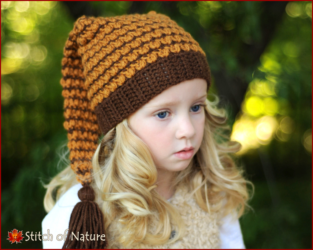 Wisteria Long Tailed Pixie Hat (16018)