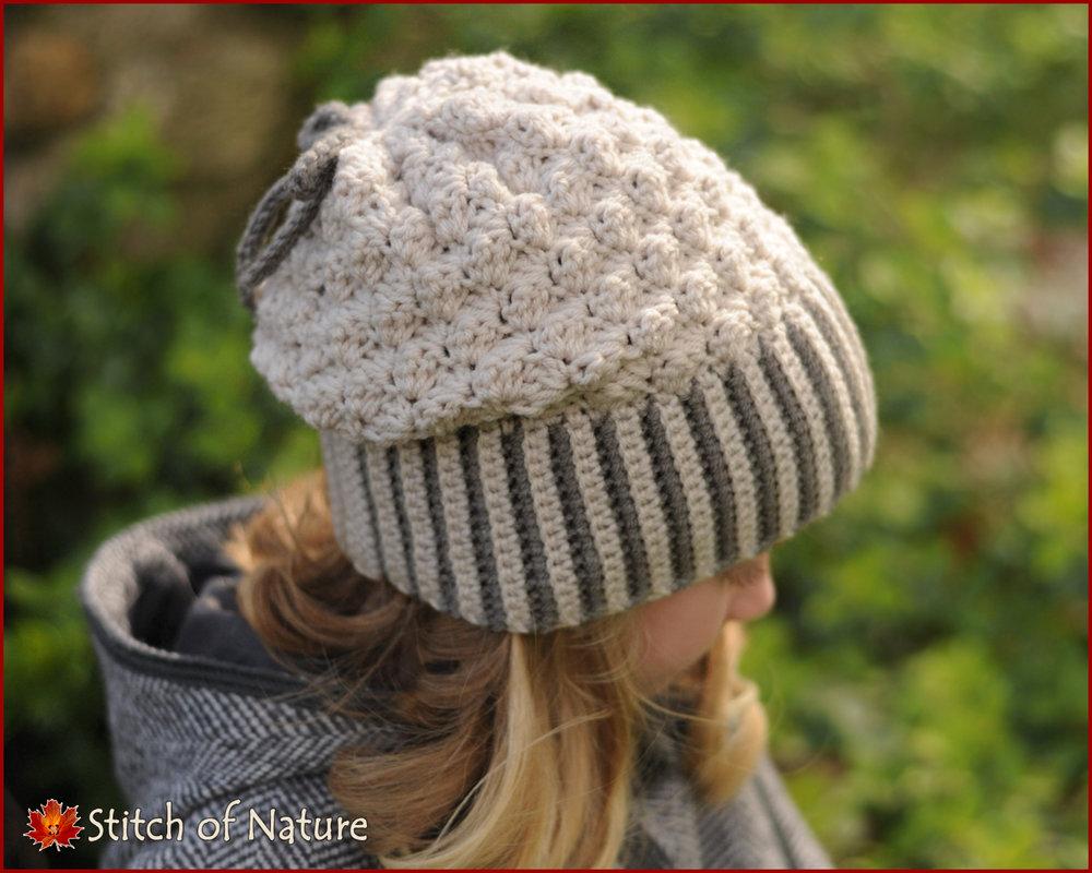 Brookville Slouchy Hat, Messy Bun Hat (16053)