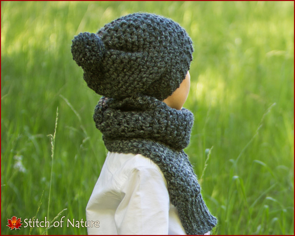 Hartford Slouchy Hat and Scarf (16073)