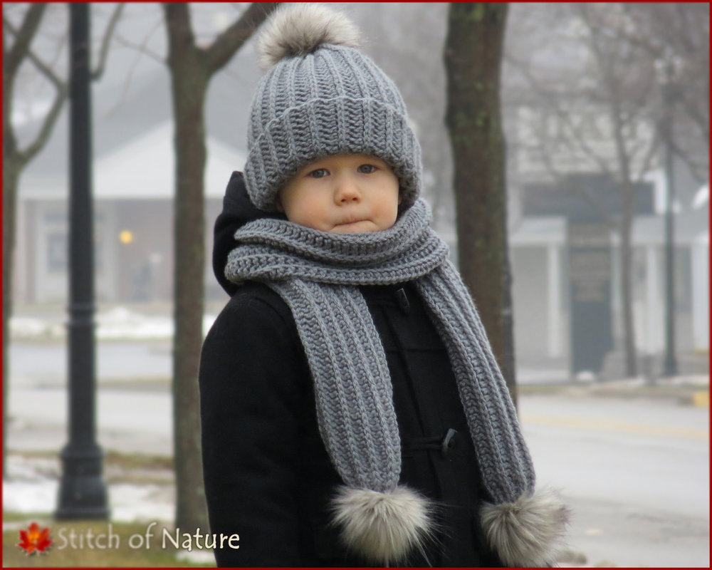 Boston Hat and Scarf (16075)