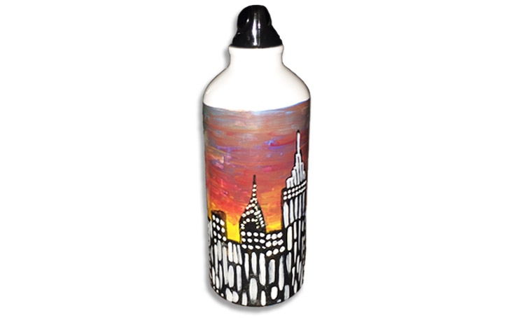 Painted Water Bottles