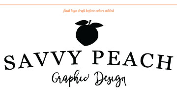 Savvy Peach Logo Draft