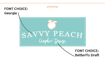 Savvy Peach Logo - Final