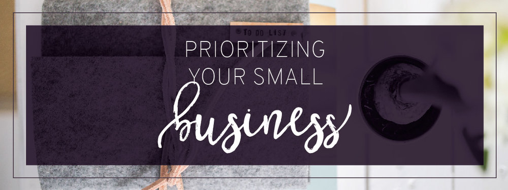 Blog header, Prioritizing your small business