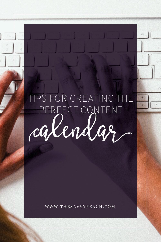 Tips For Creating a Content Calendar
