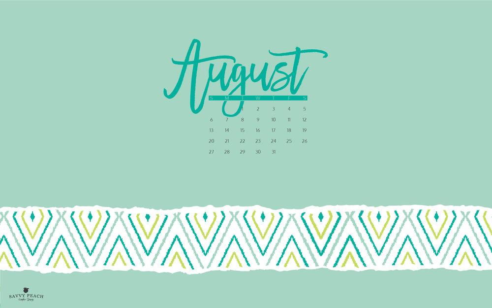 August Desktop Wallpaper