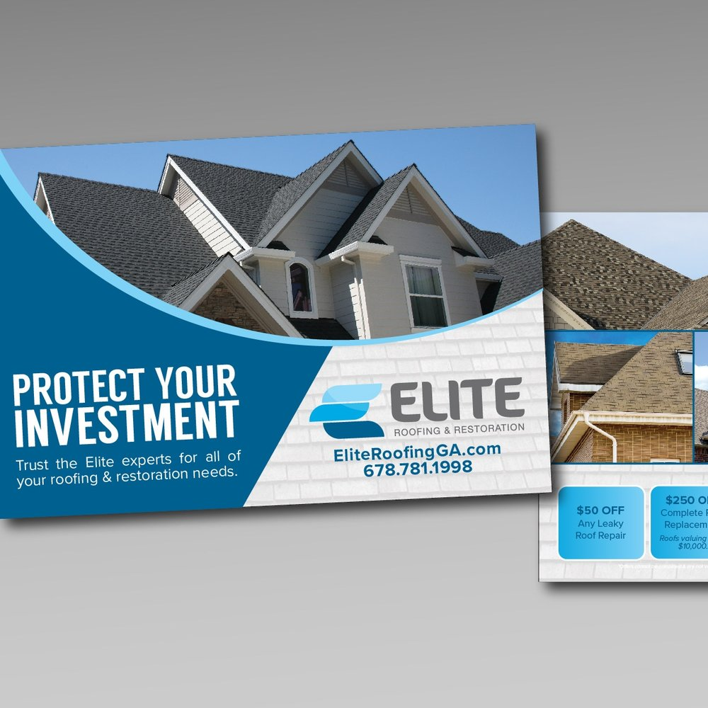 Elite Roofing & Restoration - Web | Print