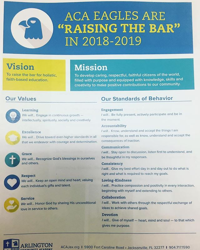 Have you heard?!! We are RAISING THE BAR!! Check out our vision/mission/values/standard of behavior 🤗