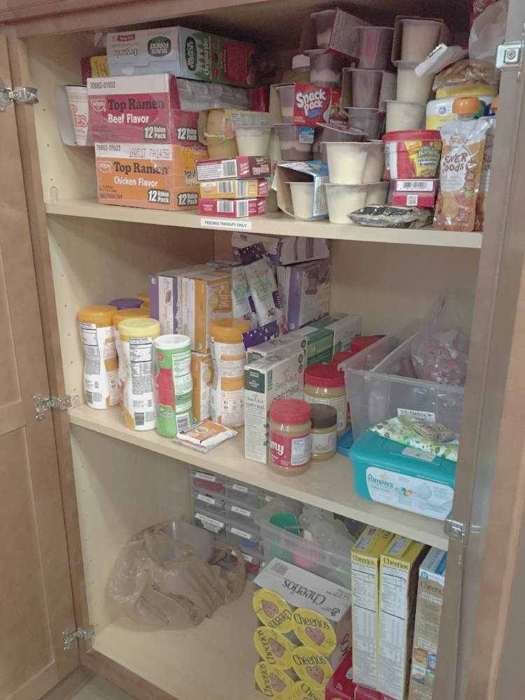 stocked therapy pantry...this was less than half of what could fit in!