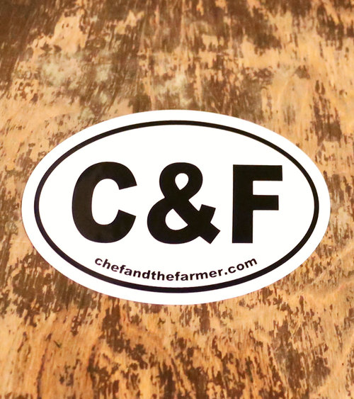 Chef the farmer oval car decal