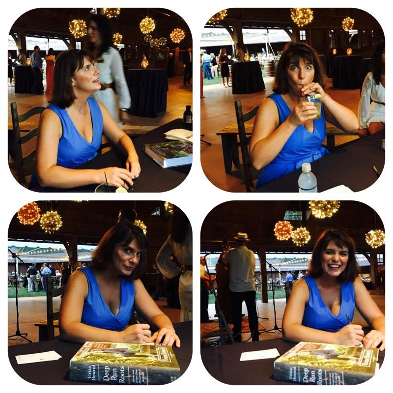 Chef Vivian signing books and meeting her fans.