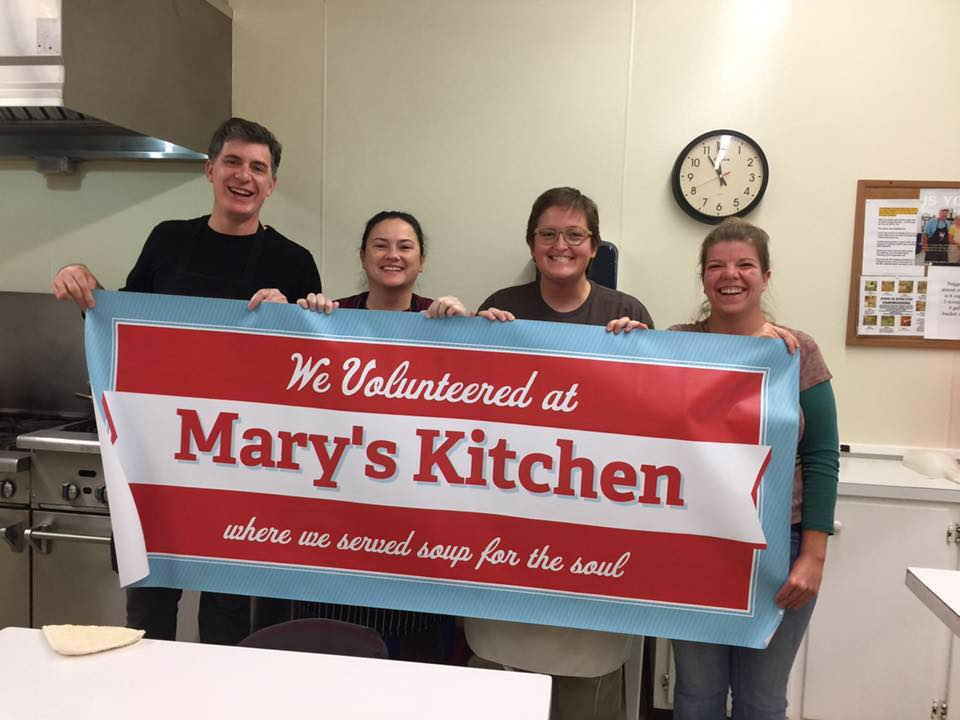 Chef & the Farmer Volunteers at Mary's Kitchen