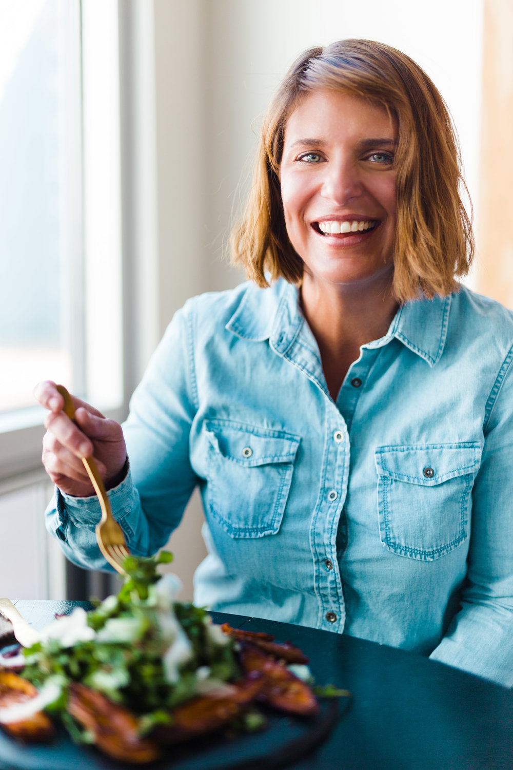 vivian howard recipes arugula salad with parm and sweet potato skins photographs by baxter miller