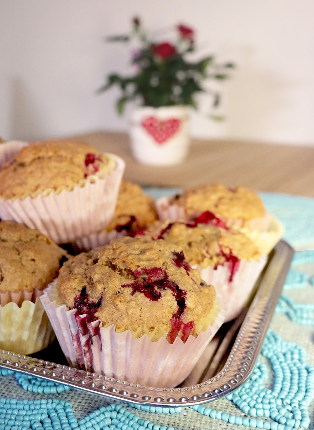 cranberry muffins with doterra lemon eo