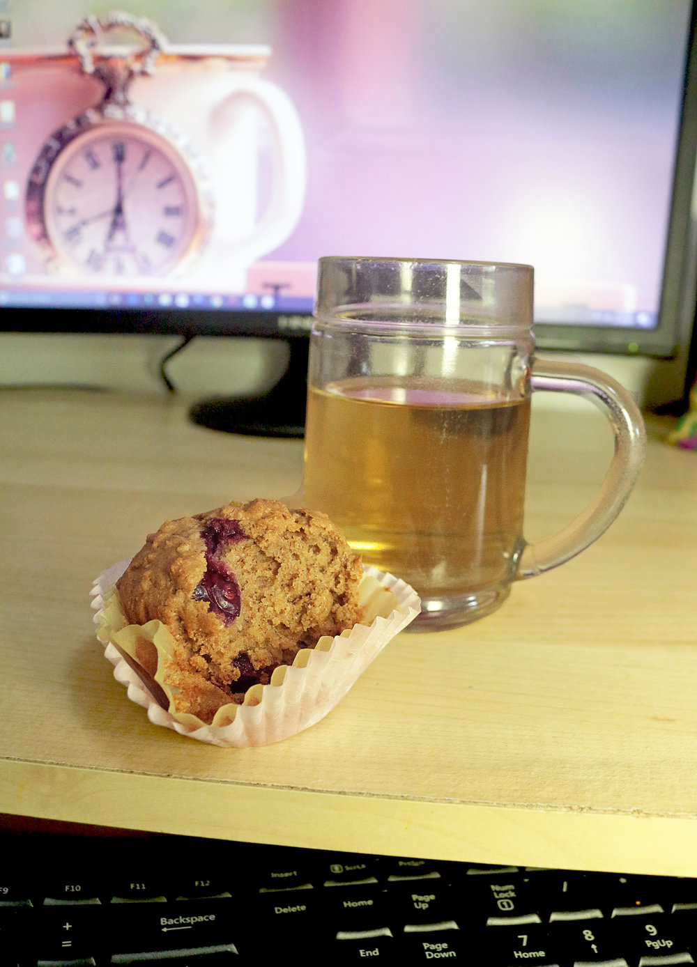 cranberry lemon essential oil muffin