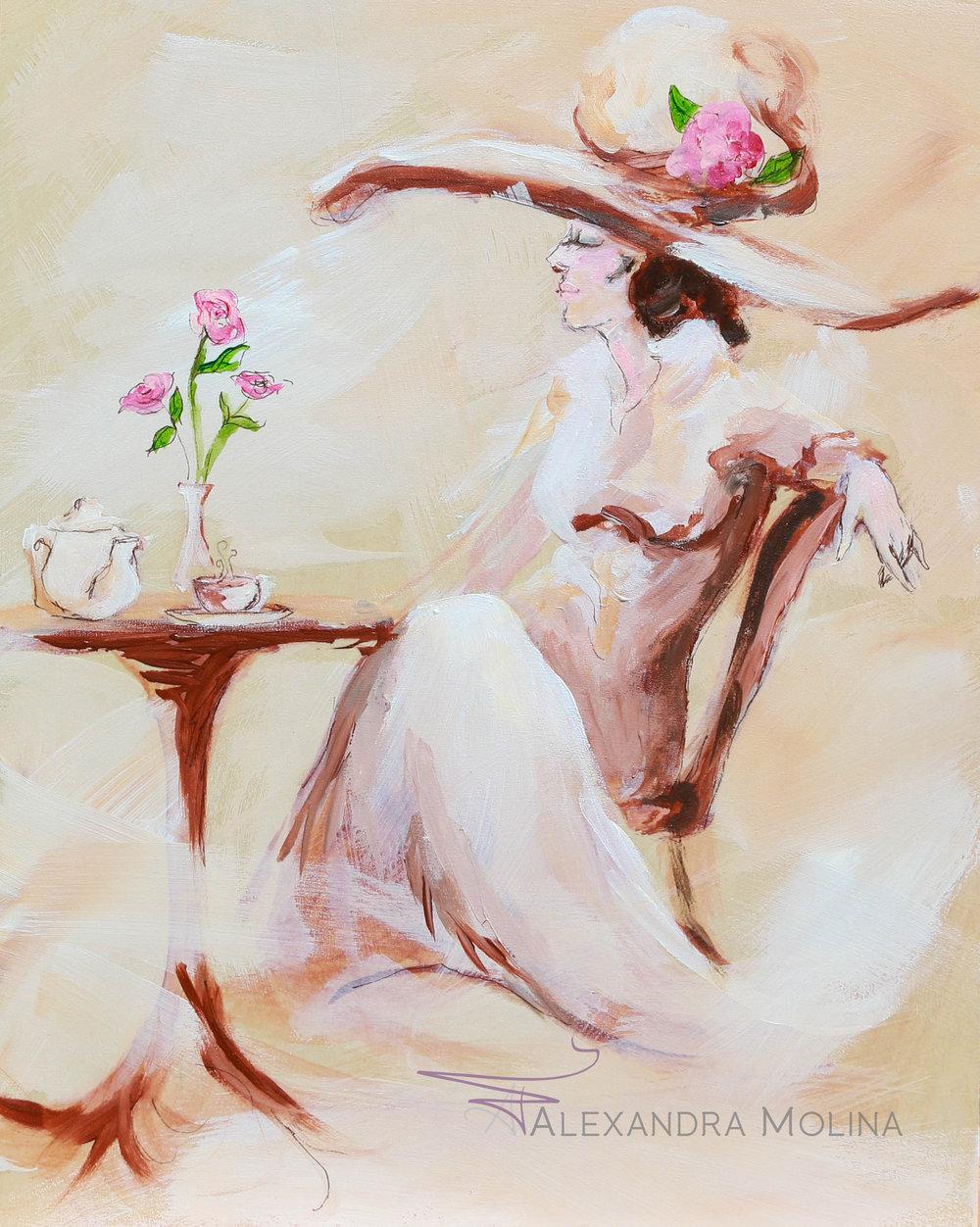 Tea Time, 2017 - Acrylic on Wood