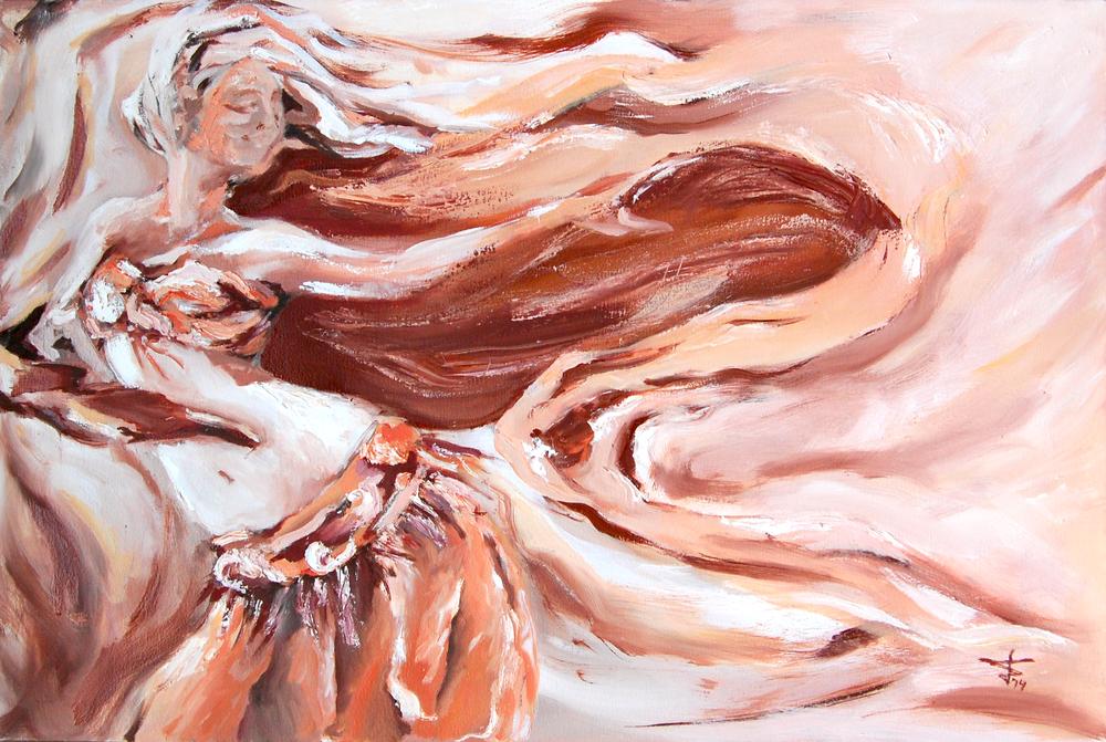 Blissful Dance , 2014, oil on canvas