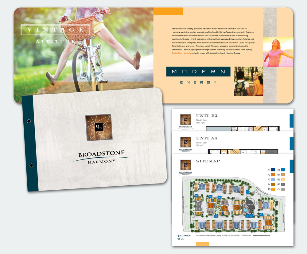Multifamily Apartment Complex Logo, Branding, Brochure & Inserts