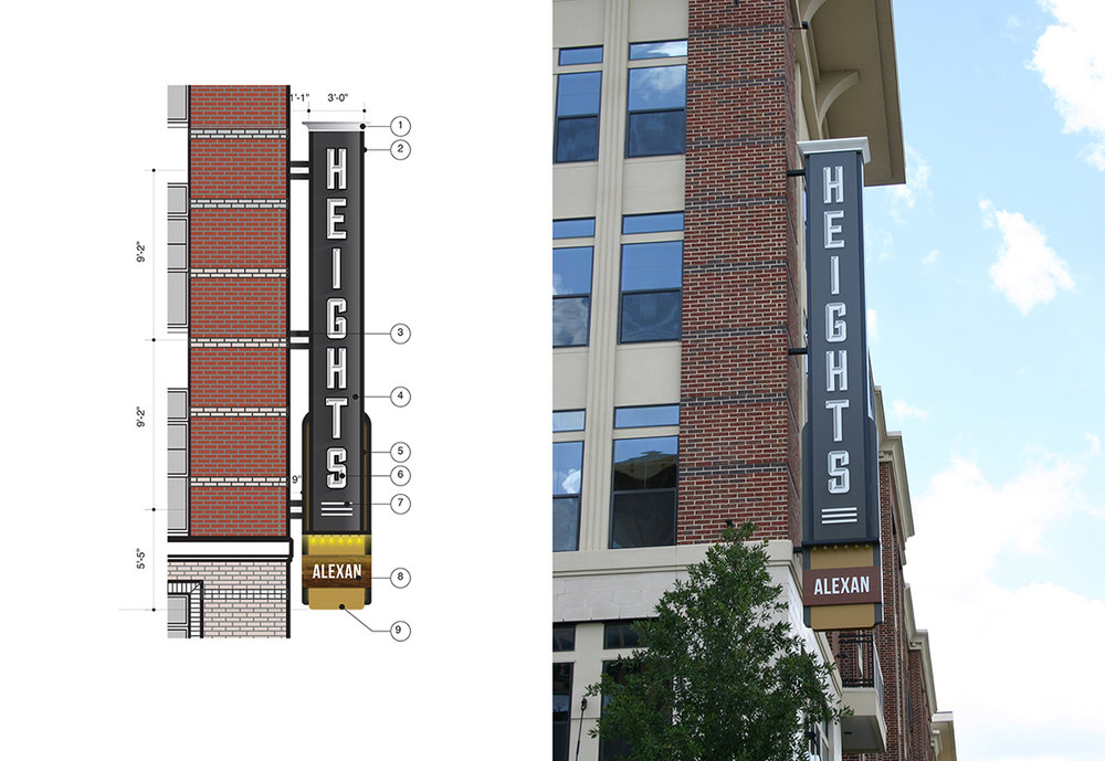 Multifamily Blade Signage in Houston