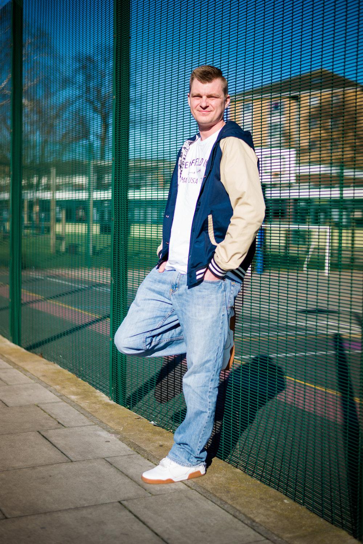Full body street portrait