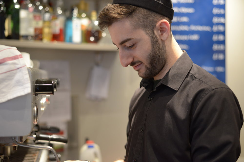 Portrait of barista at work